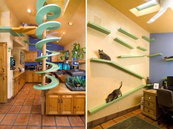 Móveis criativos para quem tem gatos 006