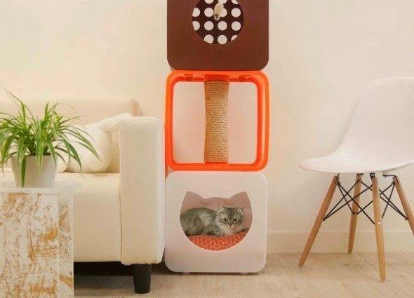 Móveis criativos para quem tem gatos 008