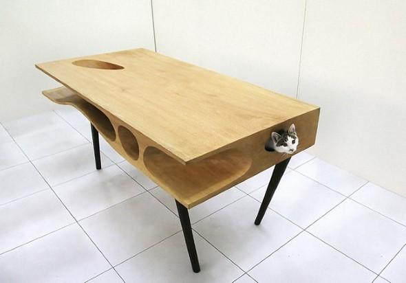 Móveis criativos para quem tem gatos 010