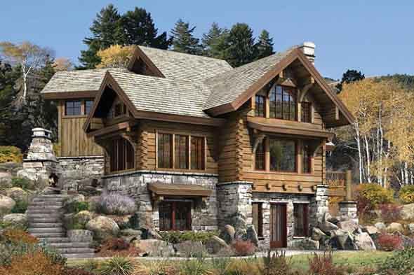 Casas charmosas sem pintura 018