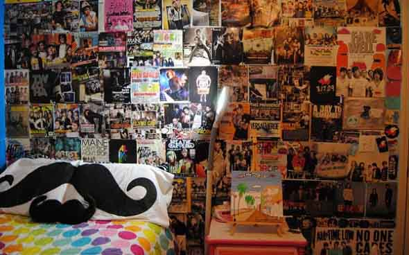 Decore seu quarto com fotos e revistas variadas 002