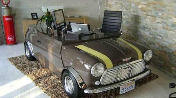 Design retrô com carros antigos na decoração 003