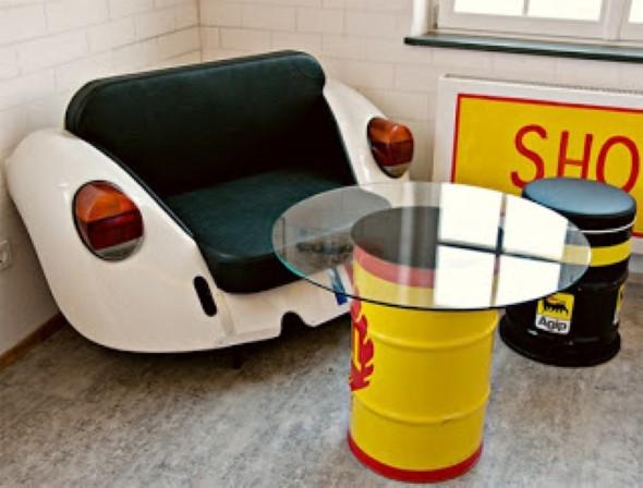Design retrô com carros antigos na decoração 008