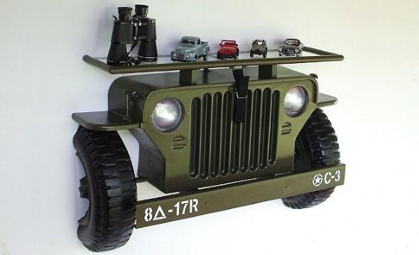 Design retrô com carros antigos na decoração 014