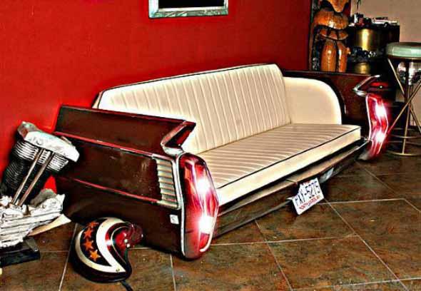 Design retrô com carros antigos na decoração 015