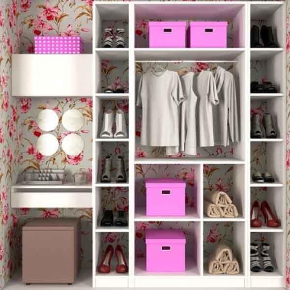 Formas criativas para aumentar o espaço dos armários 002