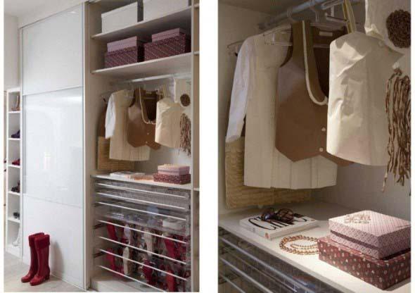 Formas criativas para aumentar o espaço dos armários 003