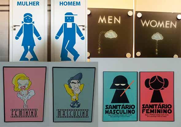 15 Modelos de Placas de banheiro engraçadas e criativas 017