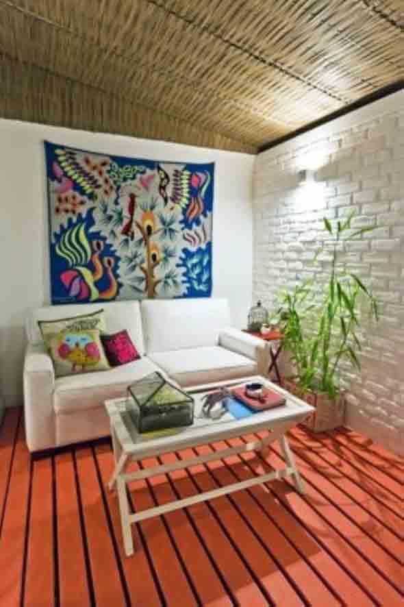 Decoração com tapeçarias nas paredes 002