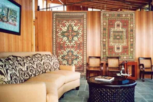 Decoração com tapeçarias nas paredes 003