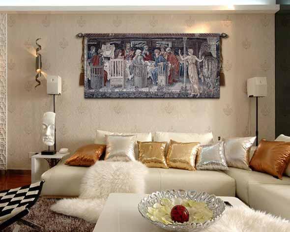 Decoração com tapeçarias nas paredes 012