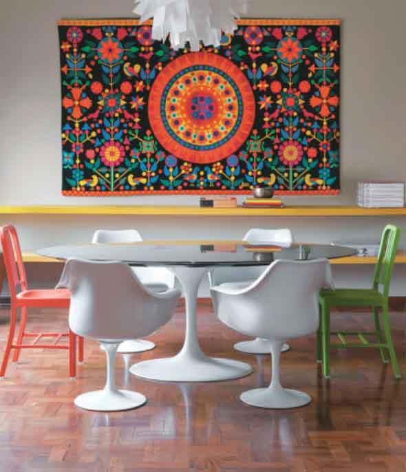 Decoração com tapeçarias nas paredes 015