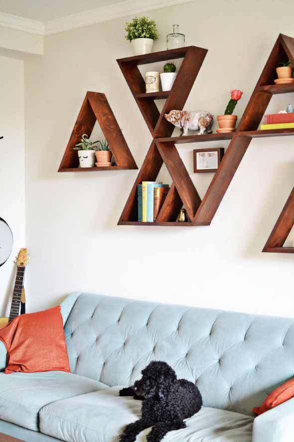 Nichos criativos para sua sala de estar 006