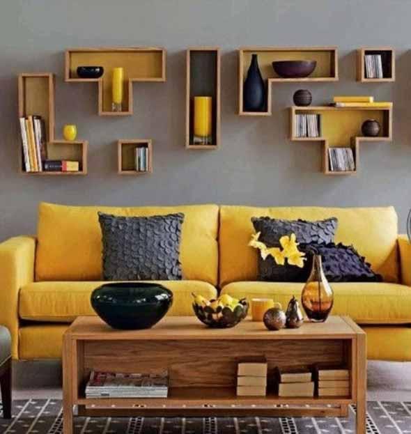 Nichos criativos para sua sala de estar 010
