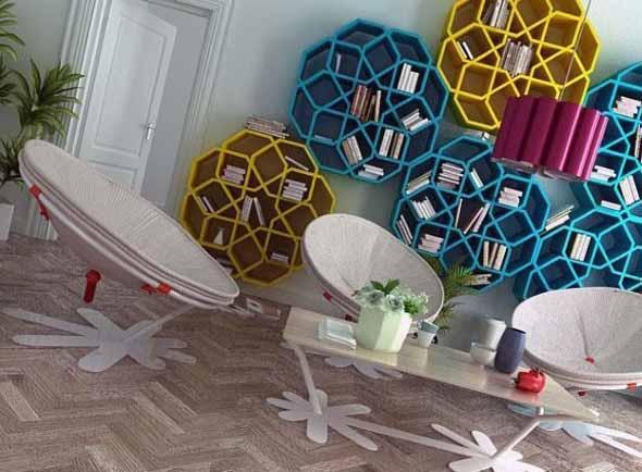 Nichos criativos para sua sala de estar 013