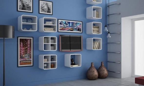 Nichos criativos para sua sala de estar 015