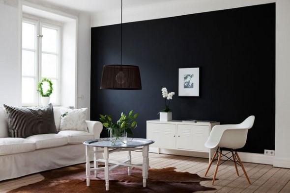 Todo o charme das paredes pretas na decoração 001
