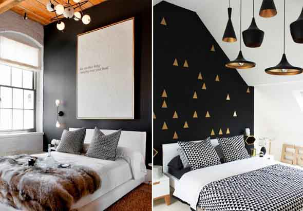 Todo o charme das paredes pretas na decoração 002