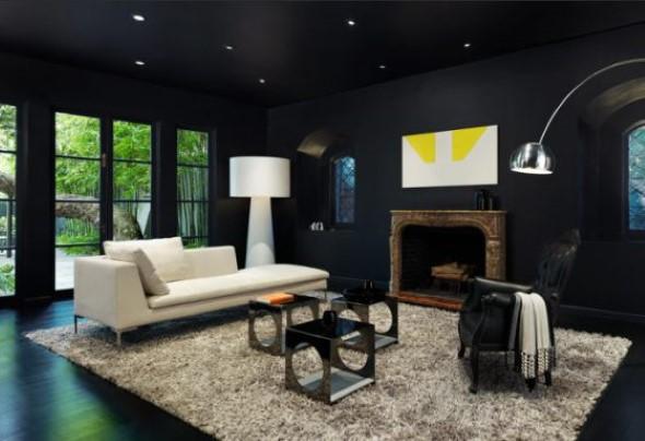 Todo o charme das paredes pretas na decoração 003