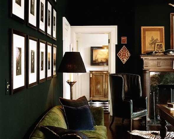 Todo o charme das paredes pretas na decoração 004