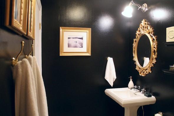 Todo o charme das paredes pretas na decoração 007