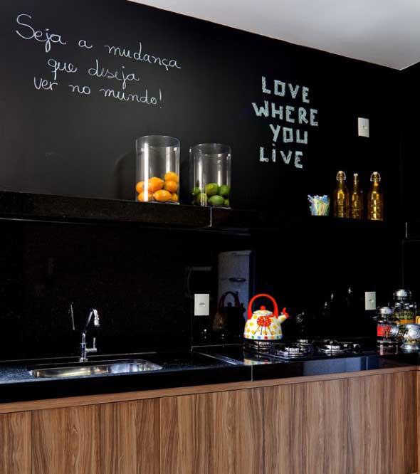 Todo o charme das paredes pretas na decoração 021