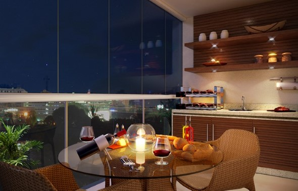 Varanda de apartamento 012