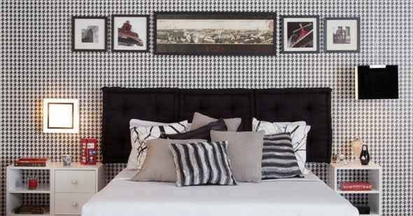 Decoração preto e branco no quarto 004