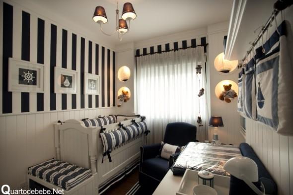 Decoração preto e branco no quarto 019