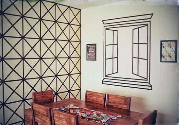 Ideias criativas e baratas para decorar parede 017