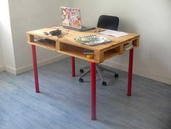 Mesas feitas com paletes e caixotes de feira 005