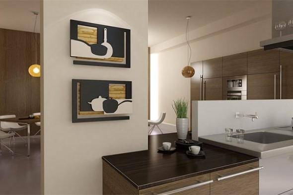 Quadros na decoração da cozinha 010