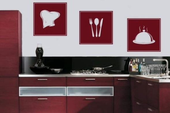 Quadros na decoração da cozinha 011
