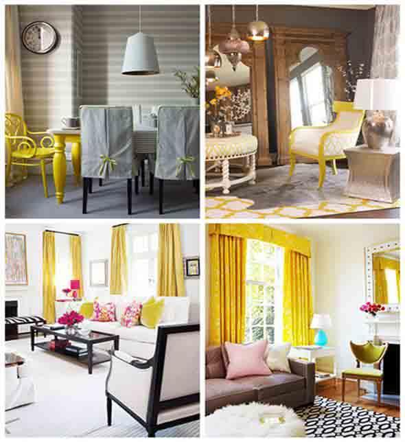 Amarelo na decoração 014