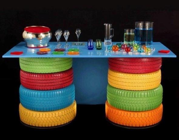 Como fazer uma mesa com pneu usado 002