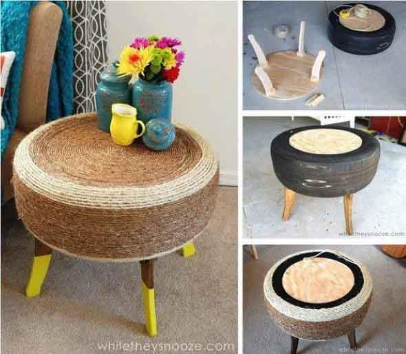 Como fazer uma mesa com pneu usado 010
