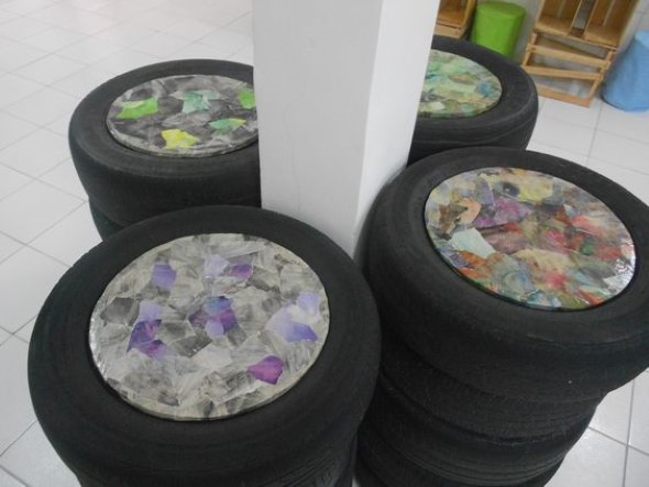 Como fazer uma mesa com pneu usado 012