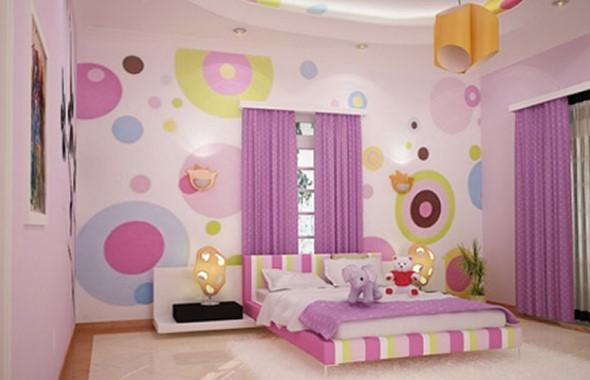 Pintura divertida no quarto das crianças 015