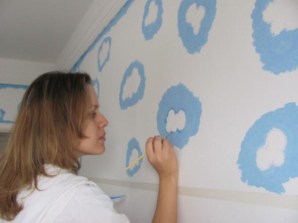 Pintura divertida no quarto das crianças 019