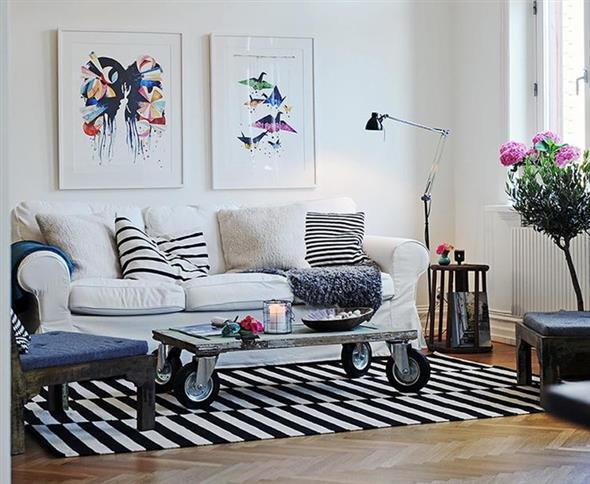 Combinações de almofadas e mantas na decoração 003