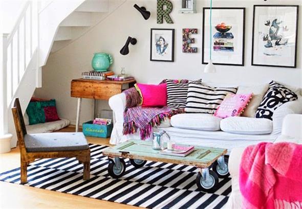 Combinações de almofadas e mantas na decoração 004
