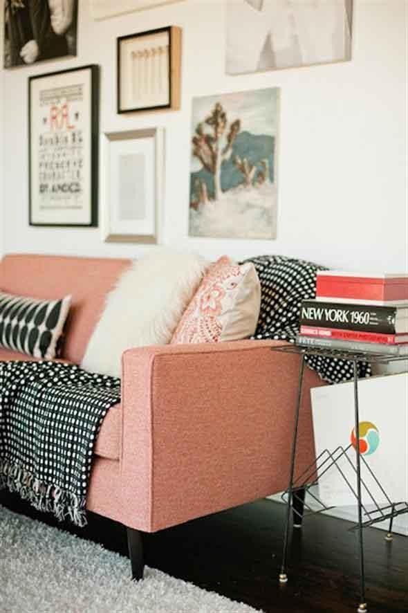 Combinações de almofadas e mantas na decoração 007