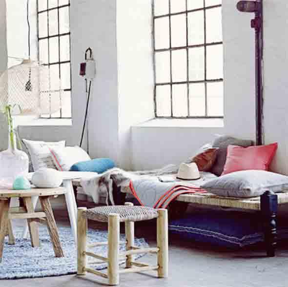 Combinações de almofadas e mantas na decoração 008