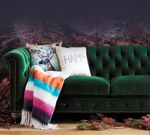 Combinações de almofadas e mantas na decoração 012