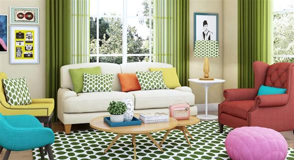 Decorar a sala de estar com um visual descontraído 006