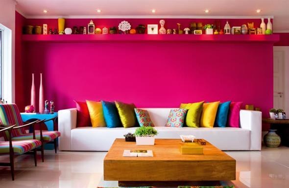 Decorar a sala de estar com um visual descontraído 011