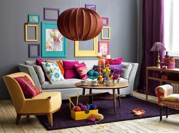 Decorar a sala de estar com um visual descontraído 014