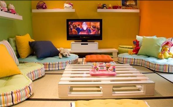 Decorar a sala de estar com um visual descontraído 018