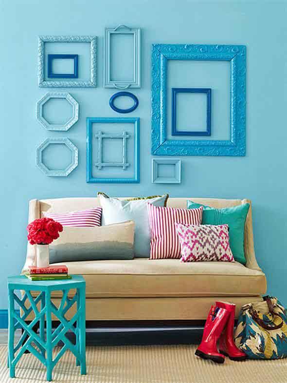 Idéias DIY para decorar paredes vazias 002