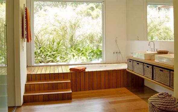 Maneiras para usar decks de madeira na decoração 005